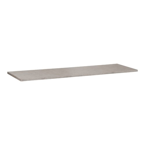 Wastafelblad Beton 160.5x45.7x2.5 cm Beton Grijs