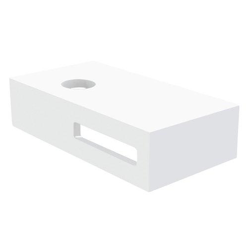 Fontein Planchet Best Design Malo Solid Surface 40x21x10 cm Glans Wit