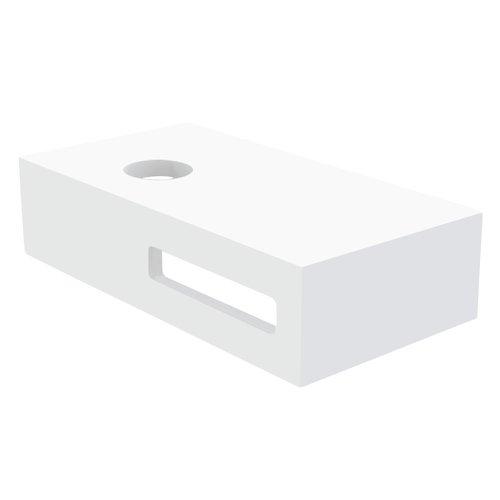 Fontein Planchet Best Design Malo Solid Surface 40x21x10 cm Mat Wit