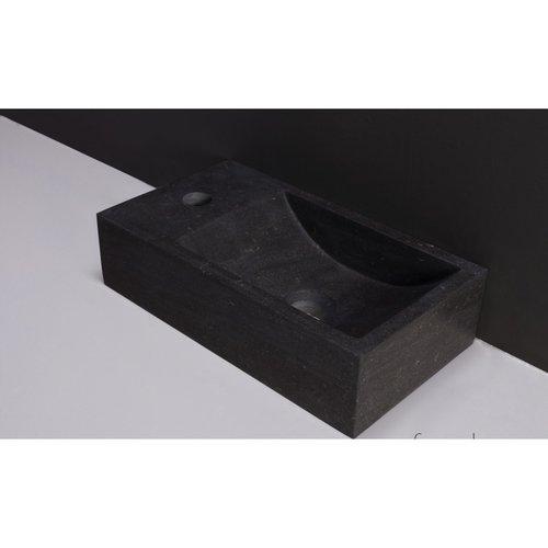 Fontein Forzalaqua Kalmar Hardsteen Gezoet Zonder Kraangat Links 40x22x10 cm