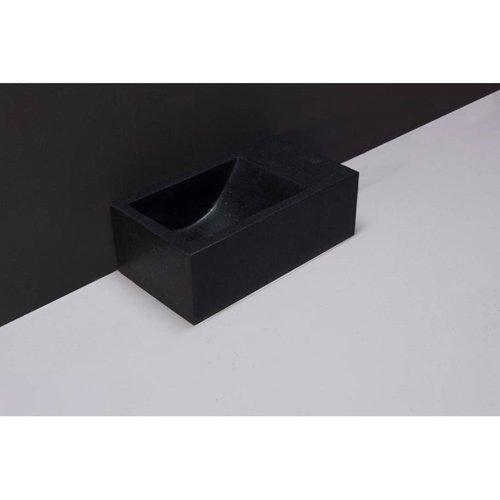 Fontein Forzalaqua Venetia XS Graniet Gezoet Zonder Kraangat Rechts 29x16x10 cm