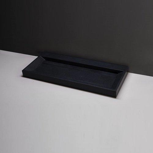 Wastafel Forzalaqua Bellezza Graniet Gezoet 2 Kraangaten 120,5x51,5x9 cm