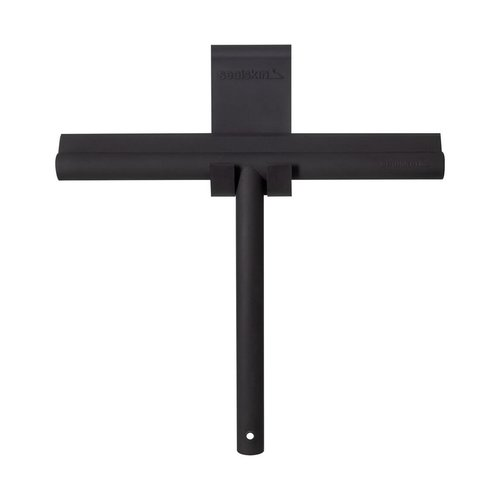 Raamwisser Sealskin Deluxe RVS 26 cm Mat Zwart (incl. Flexibele Glashaak)