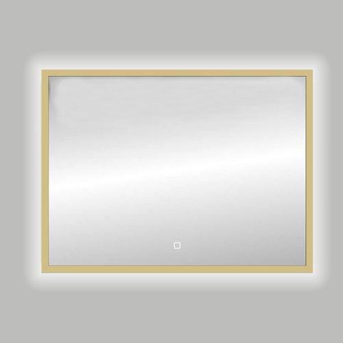 Badkamerspiegel Best Design Nancy Isola LED Verlichting 120x80 cm Mat Goud