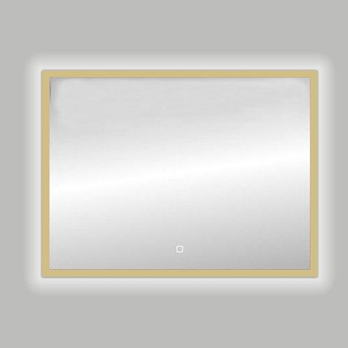 Badkamerspiegel Best Design Nancy Isola LED Verlichting 100x80 cm Mat Goud