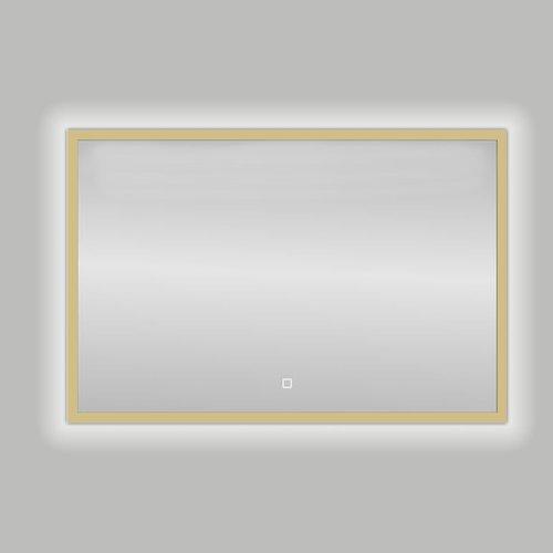 Badkamerspiegel Best Design Nancy Isola LED Verlichting 80x60 cm Mat Goud