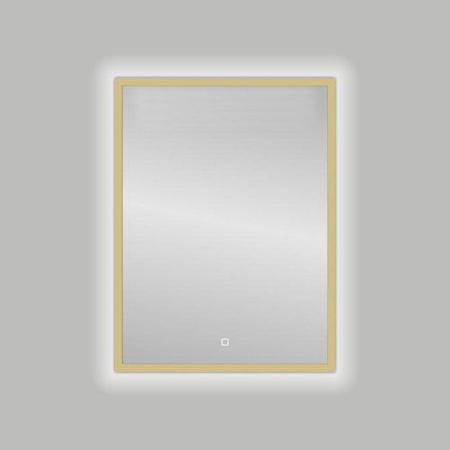 Badkamerspiegel Best Design Nancy Isola LED Verlichting 60x80 cm Mat Goud