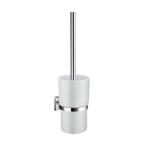 Toiletborstel met Wandhouder Smedbo House Porselein Glas met Chroom