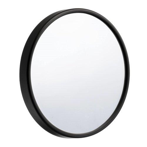Make Up Spiegel Smedbo Outline Lite voorzien van Zuignap ABS/ Spiegelglas Diameter 13 cm Zwart