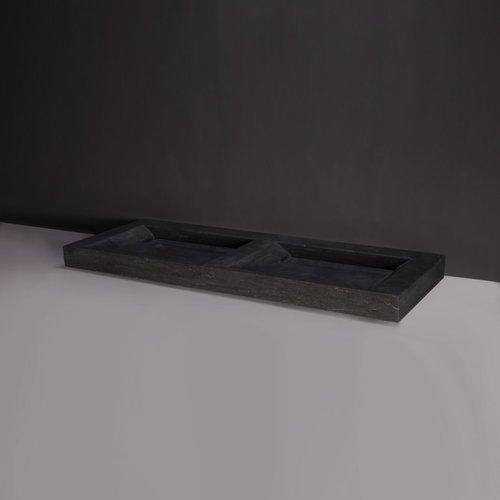 Wastafel Forzalaqua Stockholm Hardsteen Gezoet Zonder Kraangat 160,5x51,5x9 cm