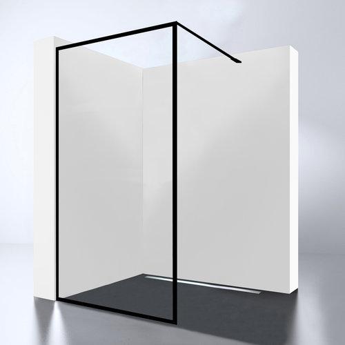 Inloopdouche Best Design For-You 80x200 cm 8 mm Nano Easy Clean Zwart
