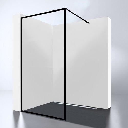 Inloopdouche Best Design For-You 120x200 cm 8 mm Nano Easy Clean Zwart