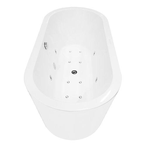 Whirlpool BWS Vrijstaand Ligbad Inclusief Waste Chroom 170x80x59 cm Wit