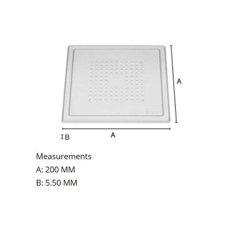 Afvoerrooster Smedbo Outline Met Vierkant Patroon 20 x 20 x 0.55 cm Chroom