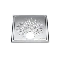 Afvoerrooster Smedbo Outline Met Kroonpatroon Voor Badkuip 20 x 20 x 0.55 cm RVS