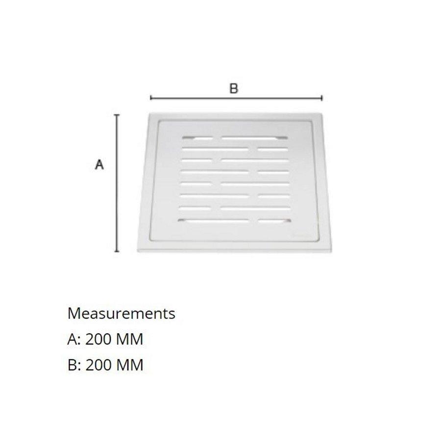 Afvoerrooster Smedbo Outline Met Lijnen Patroon 20 x 20 x 0.55 cm Geborsteld RVS