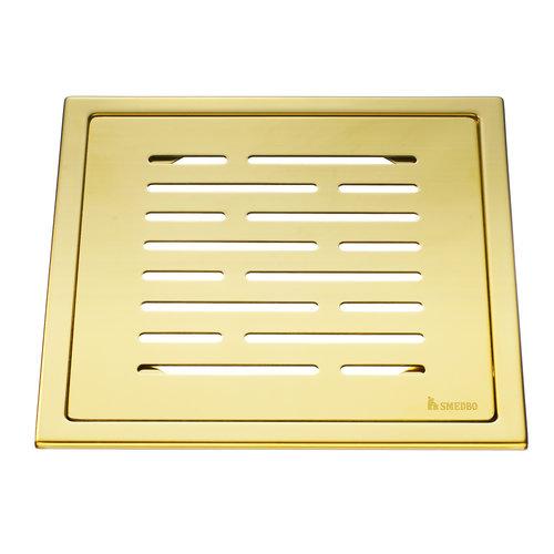Afvoerrooster Smedbo Outline Met Lijnen Patroon 20 x 20 x 0.55 cm Messing