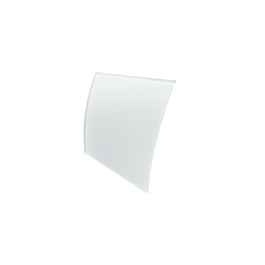 Badkamer Ventilator Pro Design Standaard Trekkoord 100mm 105 m3 Gebogen Glas Wit Mat