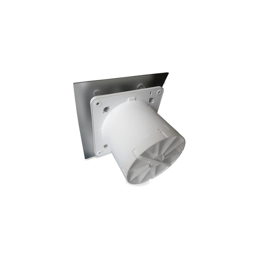 Badkamer Ventilator Pro Design Standaard Trekkoord 100mm 105 m3 Gebogen RVS