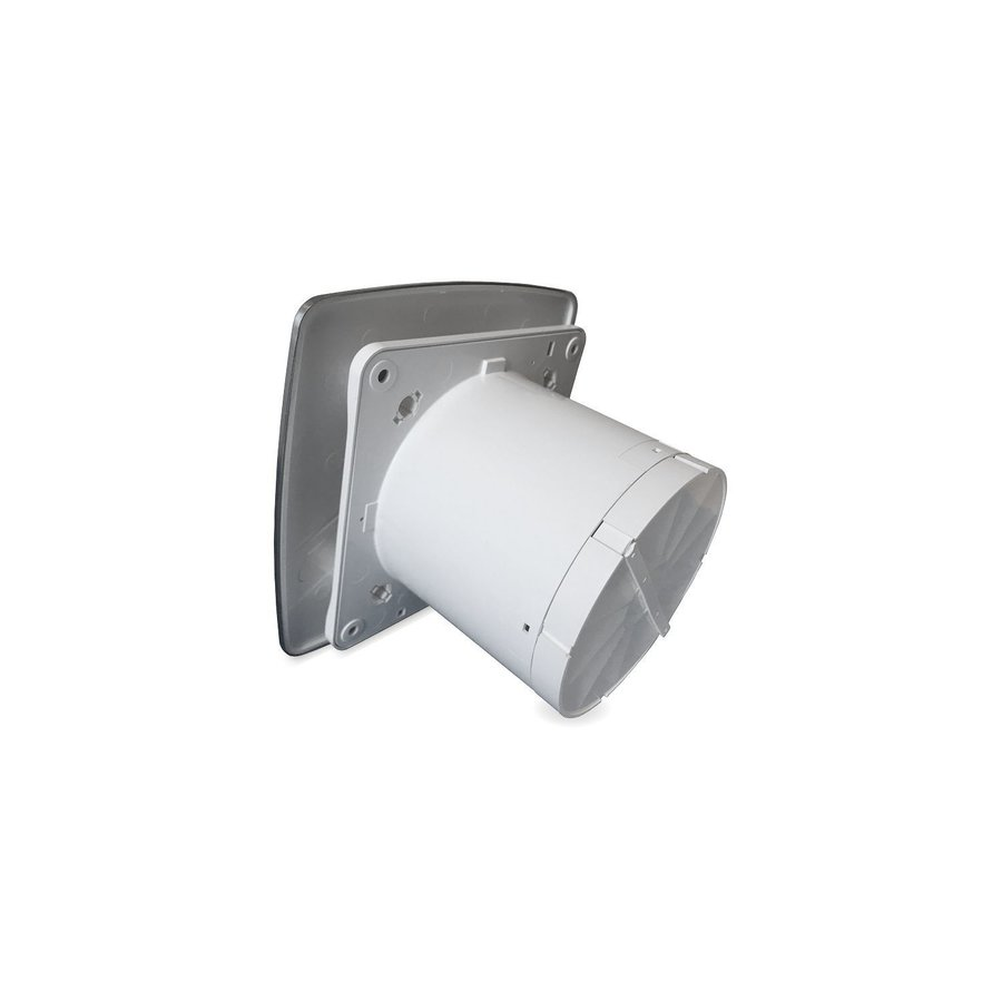 Badkamer Ventilator Pro Design Standaard Trekkoord 100mm 105 m3 Bold Line RVS