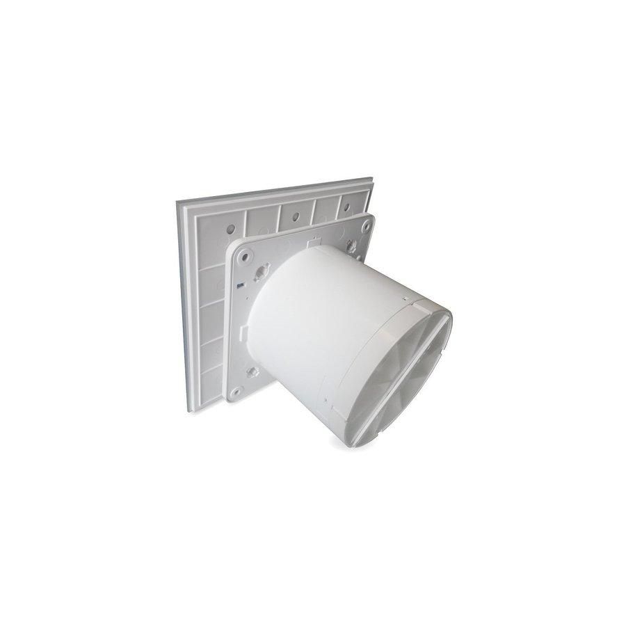 Badkamer Ventilator Pro Design Standaard 125mm 170 m3 Vlak Glas Wit Mat