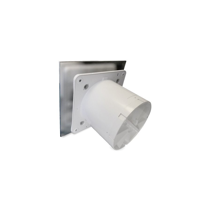Badkamer Ventilator Pro Design Nalooptimer 125mm 170 m3 Vlak RVS