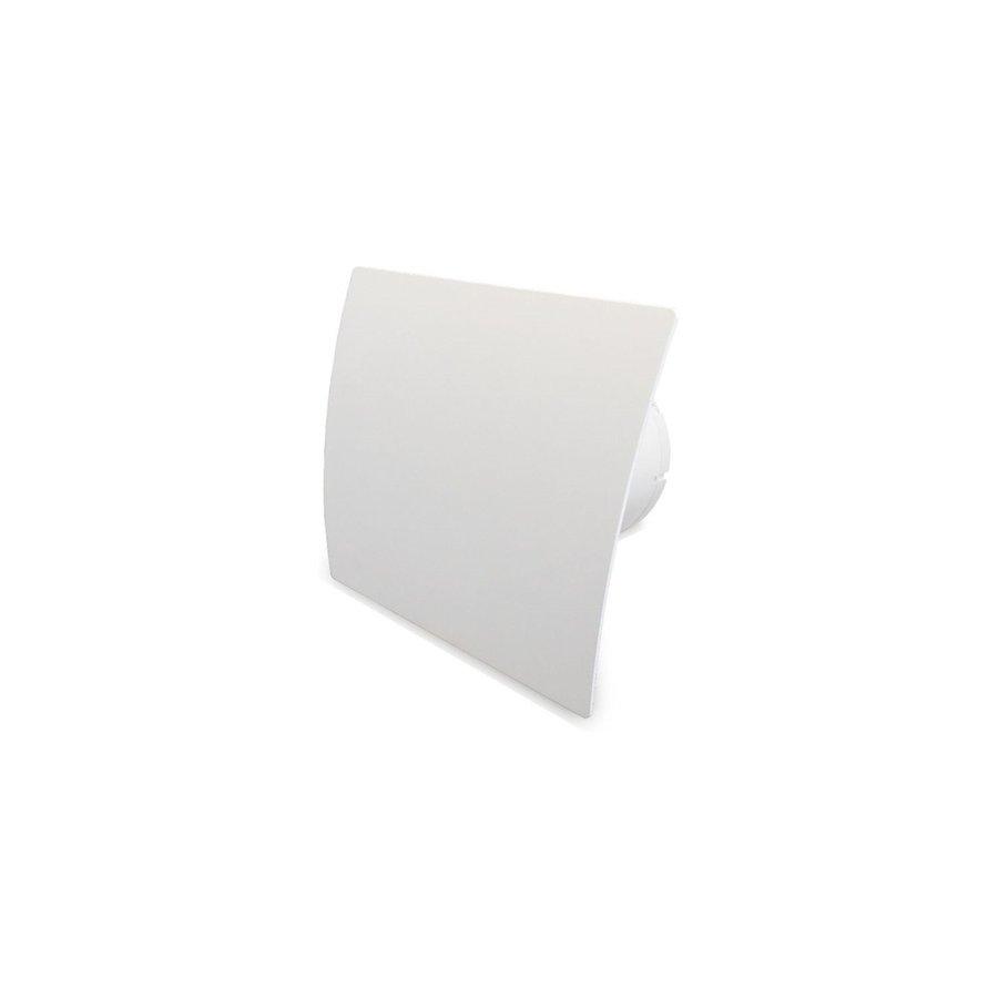 Badkamer Ventilator Pro Design Standaard Trekkoord 125mm 170 m3 Gebogen Kunststof Wit