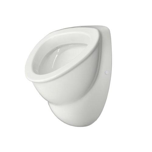 Saniwell urinoir wit keramiek boveninlaat en achterafvoer met sifon