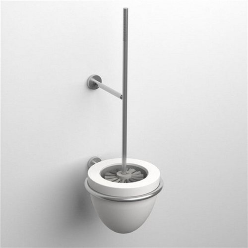 Clou Slim Siliconen Wit Deksel Toiletborstel CL/09.03042.41