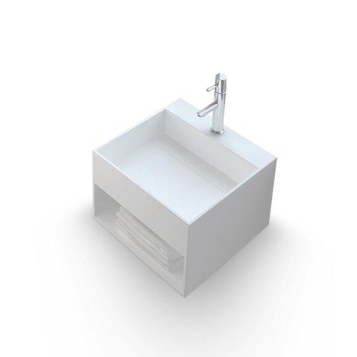 Fontein Bellezza Bagno Lesina Solid Surface met Kraangat 33x33x25 cm