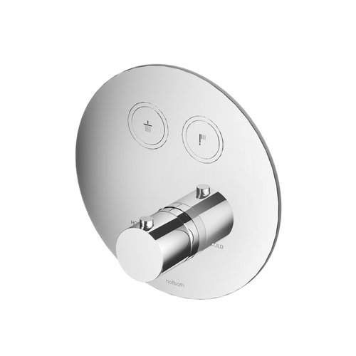 Douchethermostaat Hotbath Cobber Inbouw 2 Pushbuttons Rond (15 Verschillende Kleuren) (excl. inbouwdeel)