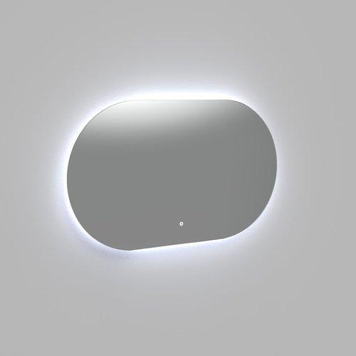 Badkamerspiegel Arcqua Reflect Ovaal 100x70 cm Horizontaal Incl. LED Verlichting