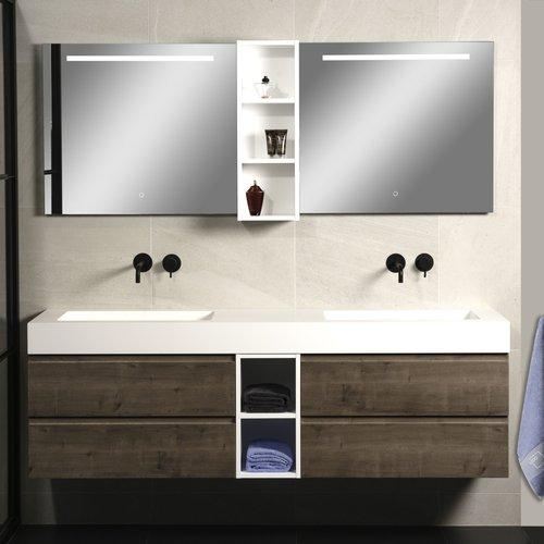Badkamerspiegel Xenz Lazise 100x70cm met LED Verlichting en Spiegelverwarming
