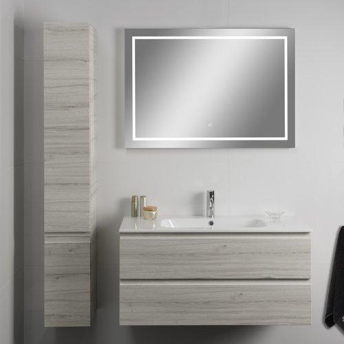 Badkamerspiegel Xenz Sirmione 140x70cm met Rondom Ledverlichting en Spiegelverwarming