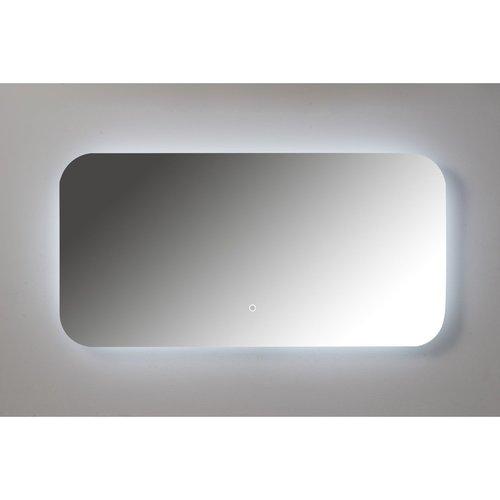 Badkamerspiegel Xenz Limone 100x50cm met Ledverlichting en Spiegelverwarming