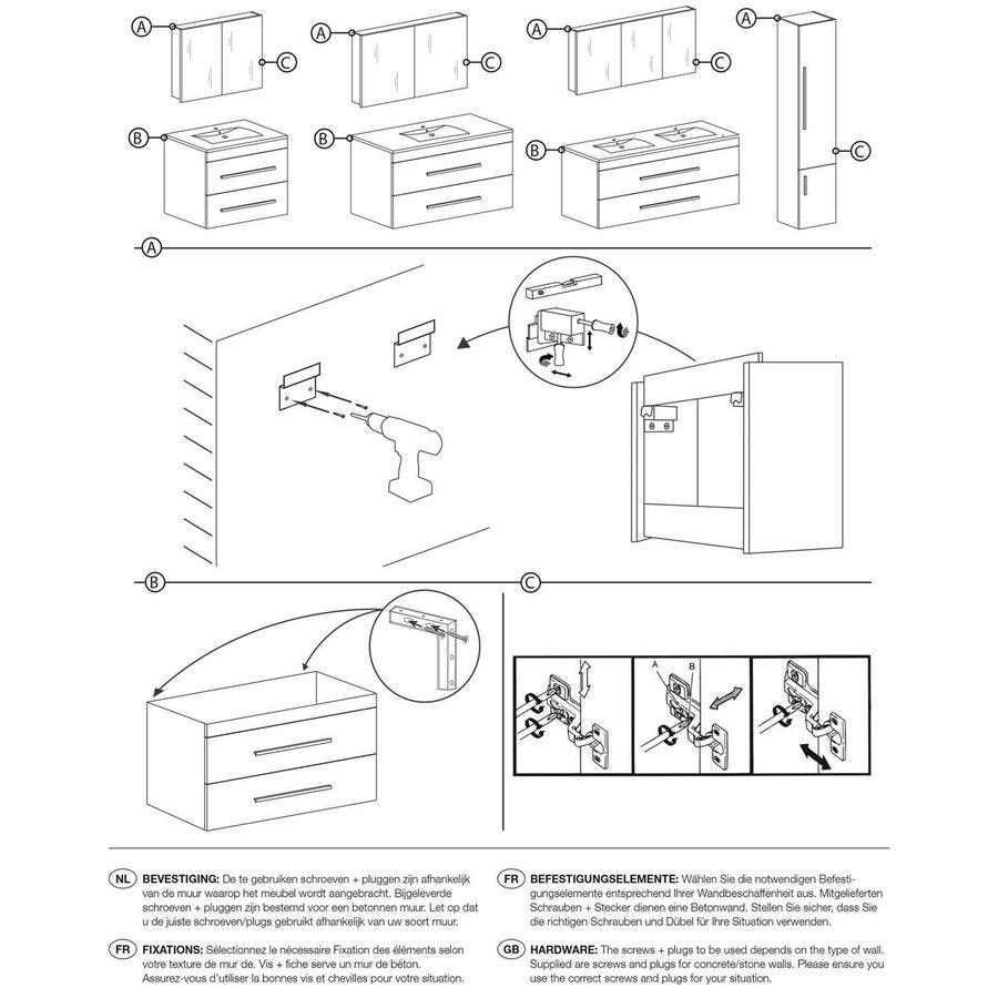 Onderkast Differnz Style 100x44.5cm Grijs Eiken