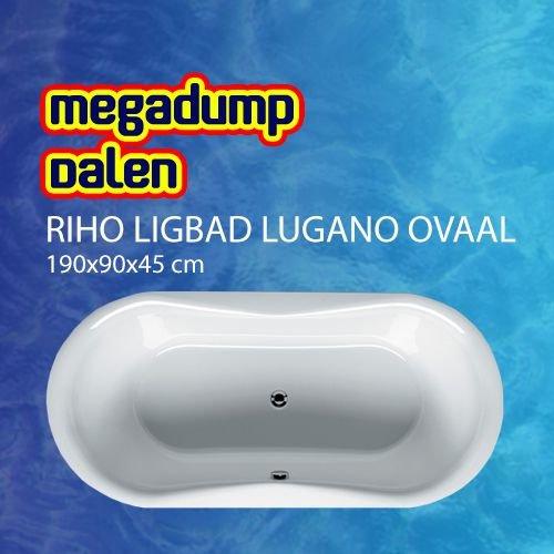 Ligbad Lugano ovaal 190x90x45 cm wit