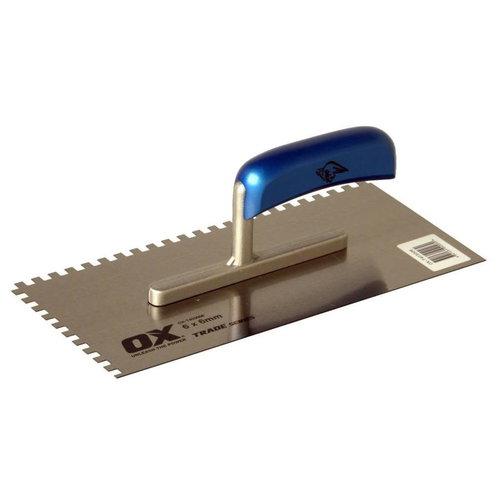 Staal Lijmspaan - Houten handgreep - 28x13 cm (4x4x4 mm)