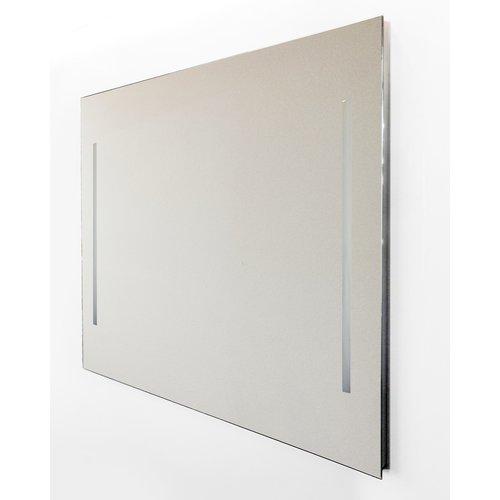 Wandspiegel Van Marcke Quadro Met Verticale LED Verlichting Met Schakelaar 120x70 cm Glas