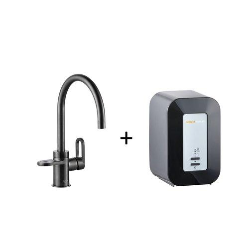Kokendwaterkraan HotSpot Alessio Mat Zwart Inclusief 4 Liter Boiler