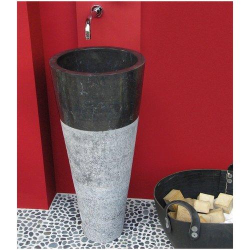 Wastafel Imso Lavabo Conico Nero Marmer 40x90cm