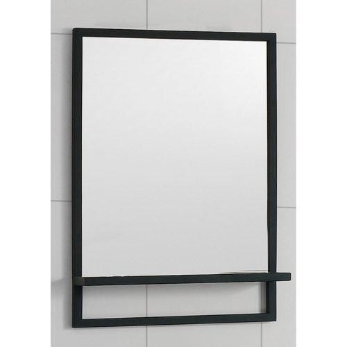 Badkamerspiegel Casajoy 55x70cm met Planchet Zwart