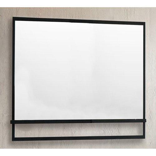 Badkamerspiegel Casajoy 100x70cm met Planchet Zwart
