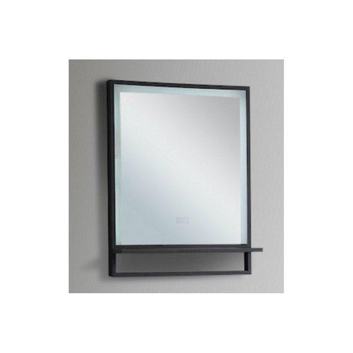 Badkamerspiegel Casajoy 55x70cm met Planchet, Ledverlichting en Anticondens Zwart