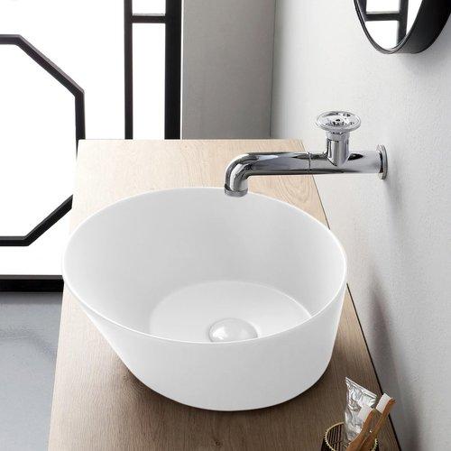 Waskom By Goof Mees Design Opbouw Wastafel Rond 42 cm Mat Wit