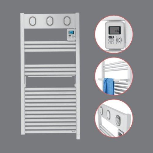 Elektrische Handdoekradiator Sauter Marapi By Van Marcke 500W 108x50 cm Wit