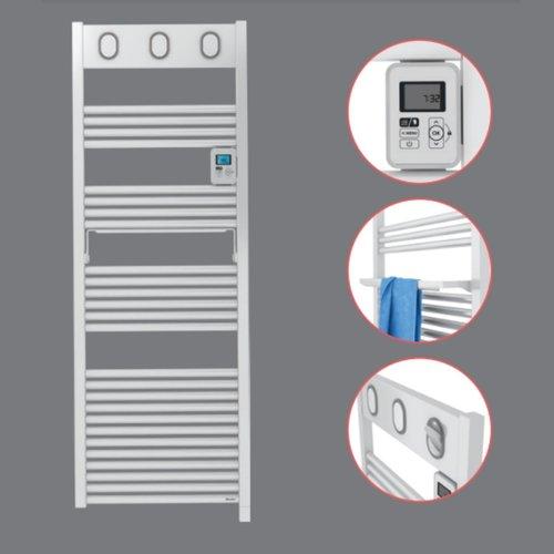 Elektrische Handdoekradiator Sauter Marapi By Van Marcke 750W 144x50 cm Wit