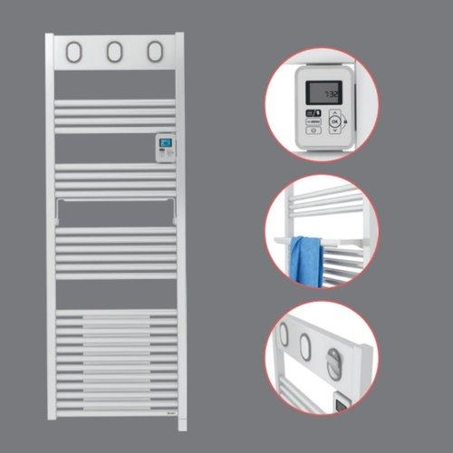 Elektrische Handdoekradiator Sauter Marapi Ventilo By Van Marcke 750+1000W 144x50 cm Wit