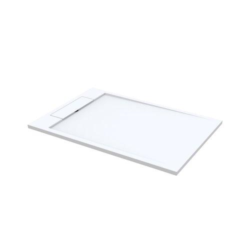 Douchebak Best Design Decent 160x100x4.5 cm Solid Surface Mat Wit
