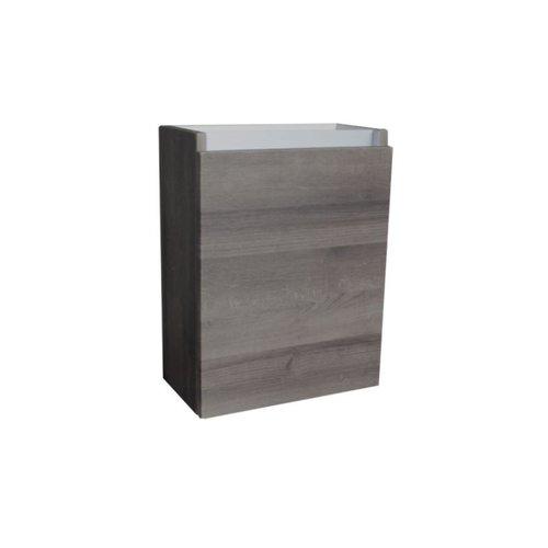 Fonteinkast Sanilux Aluminium Greeplijst Century Oak Scharnier Links 52x40x22 cm